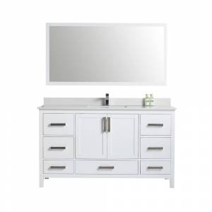 Overstock Bathroom  cabinet Four Door Five Drawer Soft Close  without mirror