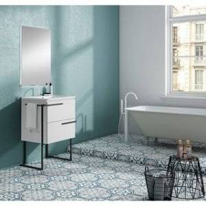 "Lucena Bath 28""  Scala vanity with legs and tower bar (white)"