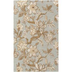 "Overstock Hand-Tufted Demaree Wool Area Rug (5' x 7'6"" - Light Grey)"