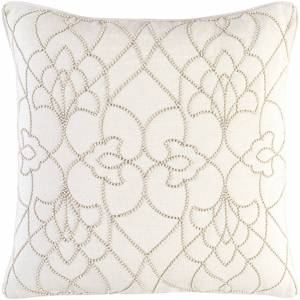 Overstock Decorative Feng Cream 18-inch Throw Pillow Cover