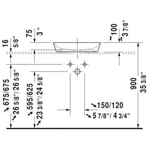 """Duravit 233950 Cape Cod 19-5/8"""" Ceramic Vessel Lavatory Sink - White (White)"""