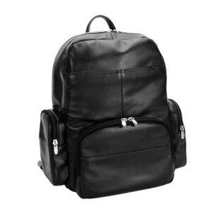 "McKlein USA McKleinUSA Cumberland 15"" Leather Dual Compartment Laptop Backpack (Black)"
