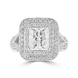 La Vita Vital Platinum P/C Diamond 2.75cts TDW Engagement Ring - White G-H - White G-H (6.5)