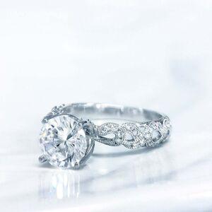 Lihara and Co. 18k White Gold 1/5ct TDW White Diamond Semi-Mount Engagement Ring (G-H, VS1-VS2) (4.5)