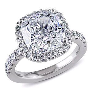 Miadora Signature Collection 18k Gold 5 5/8ct TDW GIA Certified Cushion-cut Halo Diamond Ring - White (5.5)