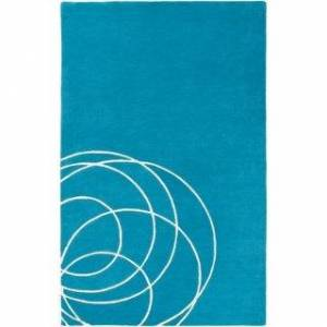 Overstock Home Hand Tufted Yerres Wool Area Rug (8' x 10' - Teal)