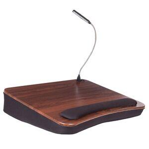 Sofia + Sam Memory Foam Wood Lap Desk with USB Light (Walnut)