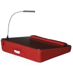 Sofia + Sam Memory Foam Wood Top Lap Desk with USB Light (Walnut)