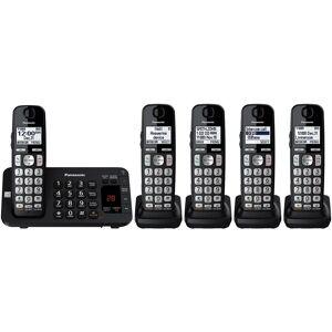 Panasonic KX-TGE445B Cordless Phone with Answering Machine- 5 Handsets (Black)