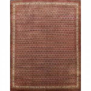"""Overstock Antique Agra Taj Mahal Oriental Large Wool Area Rug Hand-Knotted - 11'11"""" x 13'3"""" Square (11'11"""" x 13'3"""" Square - Multi-Colored)"""