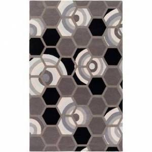 """Overstock Hand Tufted Thatcham Wool/Cotton Area Rug (5' x 7'6"""" - Charcoal)"""