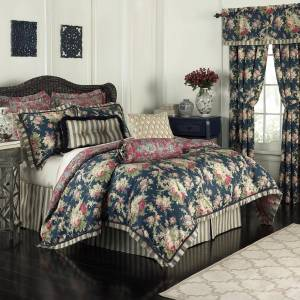 Waverly Sanctuary Rose 100% Cotton 4 Piece Bedding Collection (King)