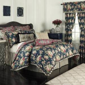 Waverly Sanctuary Rose Cotton 4 Piece Bedding Collection (King)