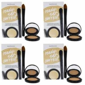 bareMinerals Ready Set Correct Well-Rested Cream Color Corrector & Brush (4 Pack)