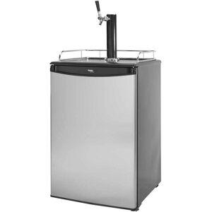 Cal Flame Stainless Steel-Like Beer Tap Refrigerator (Temperature Gauge - Stainless Steel - Cooler)