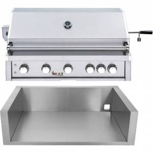 "HEATE by Cambridge Heat by Cambridge 40"" 5-Burner Grill - NG w/ Jacket"