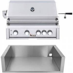 """HEATE by Cambridge Heat by Cambridge 32"""" 4-Burner Grill - NG w/ Jacket"""