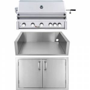 "HEATE by Cambridge Heat by Cambridge 40"" 5-Burner Grill - LP w/ Jacket and Doors"
