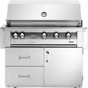 Vintage 42-In. Built-In Natural Gas Grill in Stainless with Deluxe Cart