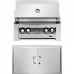 Vintage 30-In. Built-In Natural Gas Grill in Stainless with Double Access Doors