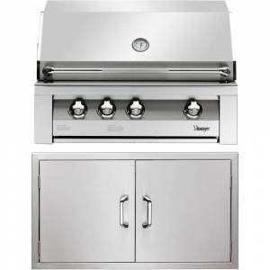 Vintage 36-In. Built-In Natural Gas Grill in Stainless with Double Access Doors