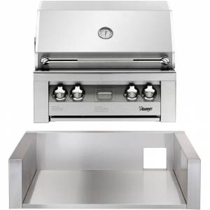 Vintage 30-In. Built-In Natural Gas Grill in Stainless with Insulated Jacket