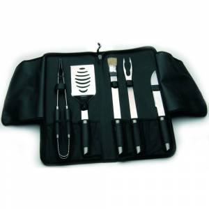 BergHOFF Geminis 6-piece Travel BBQ Set (Black and Silver)
