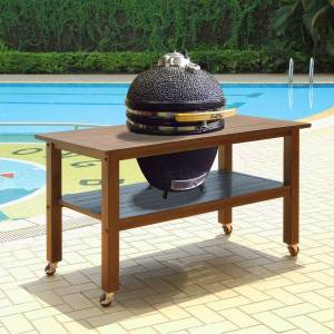 Overstock Duluth Forge 21 Inch Kamado Grill With Table - Brown Spice - 21 Inch (21 Inch - Brown Spice)