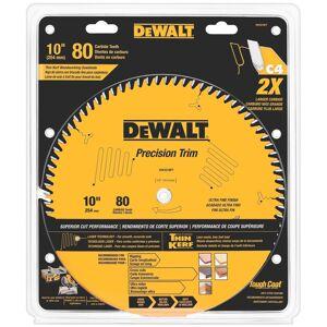 """DeWalt DW3218PT 10"""" 80 Teeth Trim Saw Blade (Saws/sawblades)"""