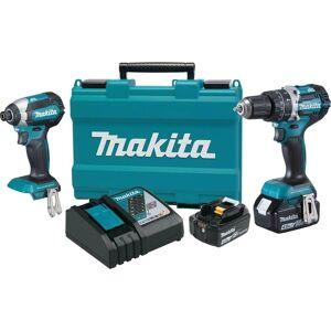 Makita 18V LXT Lithium-Ion Brushless Cordless 2-Pc. Combo Kit (4.0Ah) (Blue)