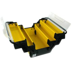 Stalwart Yellow Deluxe Steel and Plastic 18-inch Tool Box (Yellow/Black)