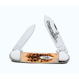 Case  Canoe  Amber  Chrome Vanadium  3.63 in. Pocket Knife (Black - Metal - Utility Knives)