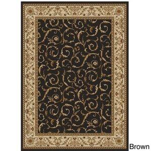 "Admire Home Living Amalfi Scroll Area Rug (5'5 X 7'7) (5'5"" x 7'7"" - Brown)"