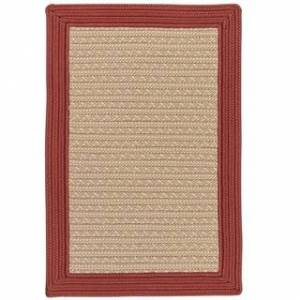 Colonial Mills Textured Border Indoor/Outdoor Braided Reversible Rug USA MADE (8' x 10' - Red Cedar)
