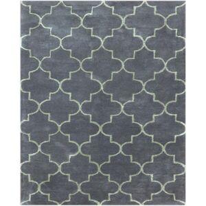 "Amer Rugs Horizon Collection Graphite Hand-tufted Wool Area Rug (7'6 x 9'6) - 7'6"" x 9'6""/Surplus (7'6"" x 9'6""/Surplus - Graphite)"