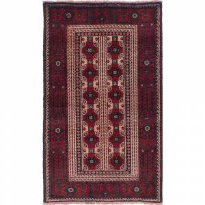 Ecarpetgallery Hand-knotted Persian Vintage Burgundy, Ivory Wool Rug - 3'9 x 6'4 (3'9 x 6'4 - Ivory)