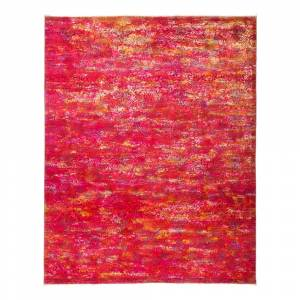 """Darya Rug Overdyed Gumunar Hand Knotted Area Rug - 7'10"""" x 9'10"""" - 7'10"""" x 9'10"""" (7'10"""" x 9'10"""" - Pink)"""