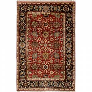 ecarpetgallery Serapi Heritage Red Wool Rug (Red Rug (5' x 7'))