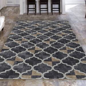 "Admire Home Living Isabel Style Grey Area Rug Bt Admire Home Living - 5'3"" x 7'3""/Surplus - 5'3"" x 7'3""/Surplus (5'3"" x 7'3""/Surplus - Grey)"