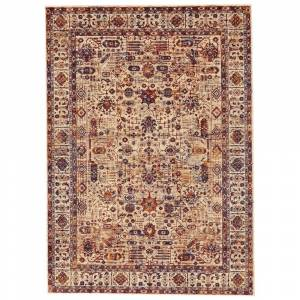 Grand Bazaar Moberly Area Rug (Taupe/Blue 5' x 8')