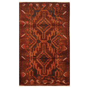 Herat Oriental Handmade One-of-a-Kind Balouchi Wool Rug (Afghanistan) - 2'10 x 4'9 (2'10 x 4'9)