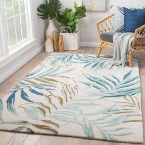Juniper Home Culebra Handmade Floral White/ Blue Area Rug (5' X 8') - 5' x 8' (5' x 8' - White/Blue)