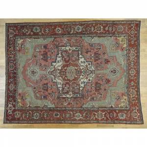 Oriental Rug Galaxy Hand Knotted Pink Antique with Wool Oriental Rug - 9'5 x 12'8
