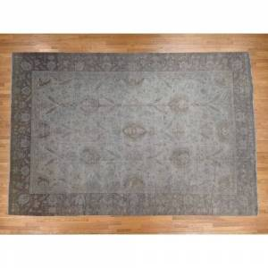 Oriental Rug Galaxy Hand Knotted Grey Oushak and Peshawar with Wool Oriental Rug