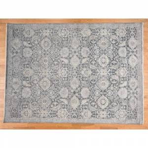 Oriental Rug Galaxy Hand Knotted Grey Oushak and Peshawar with Wool & Silk Oriental Rug - 9' x 12'2