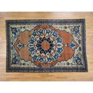 Oriental Rug Galaxy Hand Knotted Red Antique with Wool Oriental Rug - 8'4 x 12'6