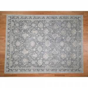Oriental Rug Galaxy Hand Knotted Grey Oushak and Peshawar with Wool Oriental Rug (9' x 12') - 9' x 12'