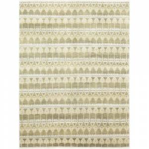 Overstock Bohemian Oriental Ikat One-of-a-Kind Hand-Knotted Area Rug - 9 x 12 (9 x 12 - Beige)