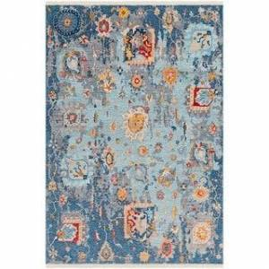 """Overstock Severine Updated Traditional Area Rug - 3'11"""" x 5'3"""" (3'11"""" x 5'3"""" - Navy)"""