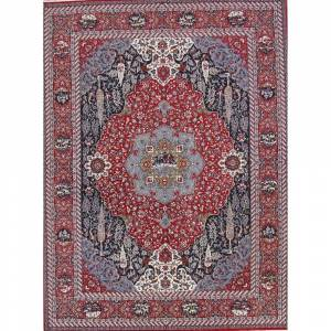 """Rug Source Acrylic/Wool Soft Pile Floral Persian Style Carpet Area Rug - 12'11"""" x 9'7"""" (12'11"""" x 9'7"""" - Red)"""